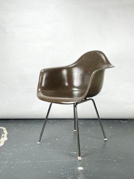 Herman Miller Eames Fiberglass Armchair in Seal Brown