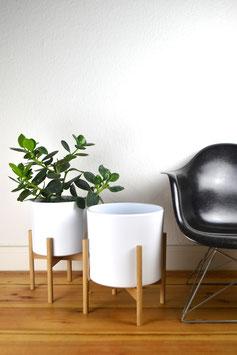 XL Mid Century modern Design Planter Blumentopf Eiche
