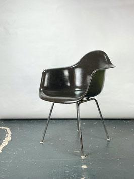 Charles Eames Fiberglass Armchair in Dark Tone