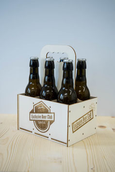 Holz-Flaschenhalter/BeerBox (für Standart 330ml Flaschen)