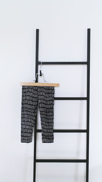 BIO Legging Stripe Black  - Littel Black Pepper