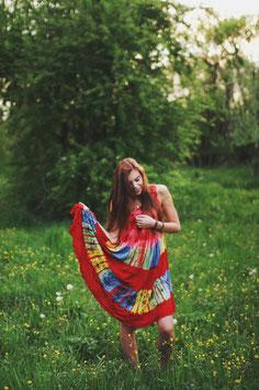 Hippie Batik Kleid Lali