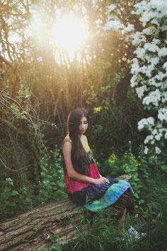 Hippie Batik Kleid Kala