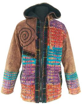Ethno Hippie Fleece Nepal Goe Kapuzenjacke