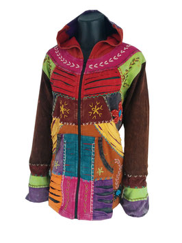 Ethno Hippie Patchwork Jacke Ripped Look