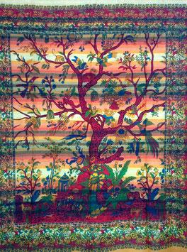 Indien Lebensbaum Tagesdecke Wandbehang