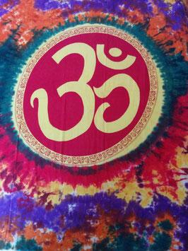 Om Batik Goe Hippie Tagesdecke Wandbehang