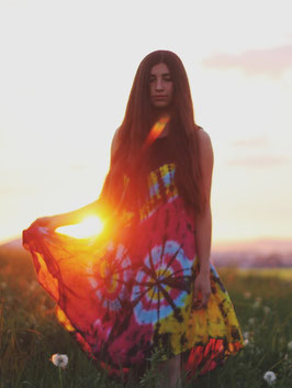 Hippie Batik Kleid 1