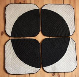Black Q 4er Set