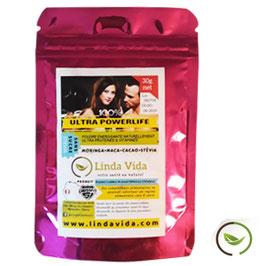 Poudre Powerlife : Moringa, Maca, Cacao, Stevia - Sachet de 30 gr