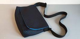 Grand sac bandoulière - néoprène perforé bicolore