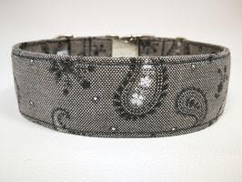 """Hundehalsband mit Klickverschluss """"Paisley beige-grau"""""""