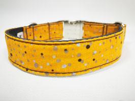 """Hundehalsband mit Klickverschluss """"Pünktchen-curry"""""""