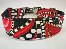 """Hundehalsband mit Klickverschluss """"Paisley-Style-rot"""""""