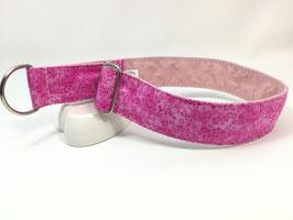 """Zugstopp-/Martingal-Halsband """"Blümchen pink"""""""