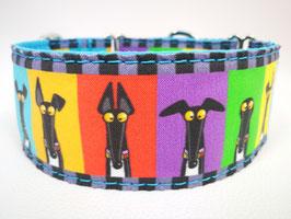 """Hundehalsband mit Klickverschluss Windhund-Motiv """"Windhund Cartoon """""""