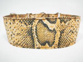 "Martingal-/Zugstopp-Halsband ""Animal-Print-Snake-braun"""