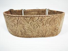"""Hundehalsband mit Klickverschluss """"Blumenornamente sand"""""""
