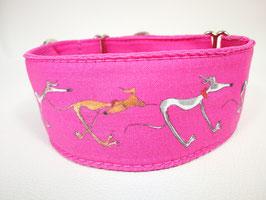 """Hundehalsband mit Klickverschluss Windhund-Motiv """"pink """""""