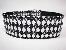 """Hundehalsband mit Klickverschluss """"Karo schwarz-weiß"""""""