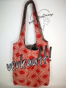 Shopping Bag Rauten-red