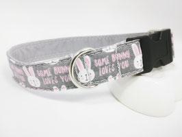 """Hundehalsband mit Klickverschluss """"Osterhase-rosa"""""""