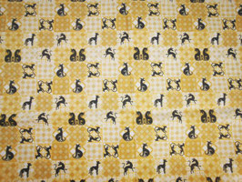"""Hundehalsband mit Klickverschluss Windhund-Motiv """"Ocker"""""""