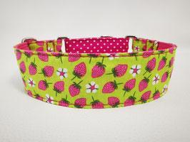 """Hundehalsband mit Klickverschluss """"Erdbeer-Früchtchen"""""""
