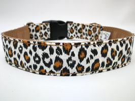 """Hundehalsband mit Klickverschluss """"Leolook-beige-schwarz"""""""