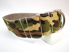 "Zugstopp-/Martingal-Halsband ""Camouflage-braun-rün"""
