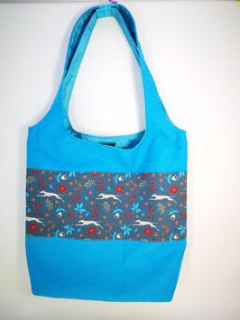 "Shopping-Bag ""Windi Laufhund blau"""