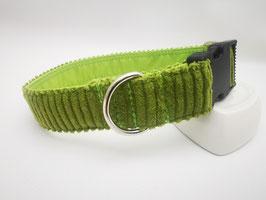Hundehalsband mit Klickverschluss im Cord-Design