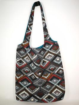 "Shopping Bag ""Rauten grau-multi"""