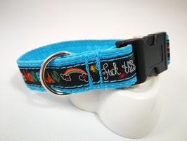 Hundehalsband mit Acetal-Klickverschluss Webband Wonderland