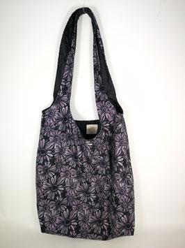 "Shopping Bag ""Margeriten lila-black"""