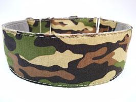 "Zugstopp-/Martingal-Halsband ""Camouflage braun-grün"""