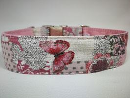 """Hundehalsband mit Klickverschluss """"Schmetterlinge-rosa"""""""