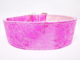 "Zugstopp-/Martingal-Halsband ""Glitzer pink"""