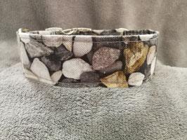 """Hundehalsband mit Klickverschluss """"Leinenlook Kieselsteine-grau"""""""