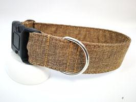 """Hundehalsband mit Klickverschluss """"Outdoor-braun"""""""