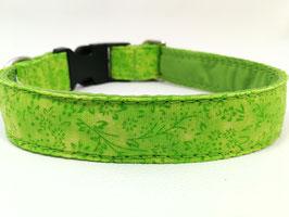 """Hundehalsband mit Klickverschluss """"Blümchen grün"""""""