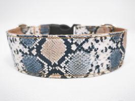 """Hundehalsband mit Klickverschluss """"Animal-Print-Snake-braun-schwarz-multi"""""""