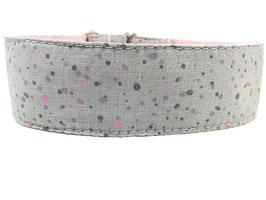 """Hundehalsband mit Klickverschluss """"Pünktchen-grau"""""""
