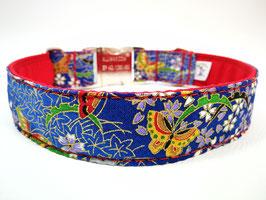 """Hundehalsband mit Klickverschluss """"Schmetterlinge-blau"""""""