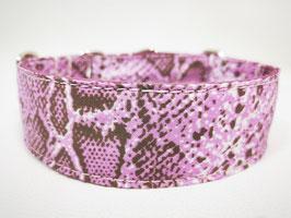 "Hundehalsband mit Klickverschluss ""Animal-Print-Snake-lila"""