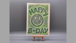 Happy B-Day, grün