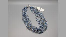 Halskette blau