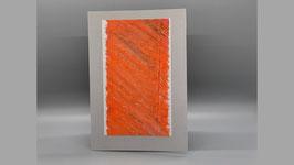 hellgraue Karte mit orange