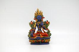 Blaue Tara Figur Kunstharz