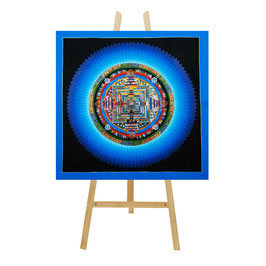 45x45 cm, Kalachakra mandala blue thangka